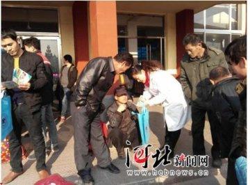 沧州东光为外出务工人员讲艾滋病防治(图)