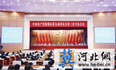 中共邯郸市委九届三次全会召开