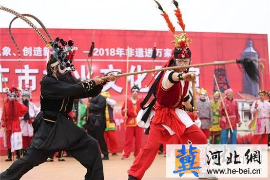 首届石家庄社火文化展演在井陉矿区举行(图)