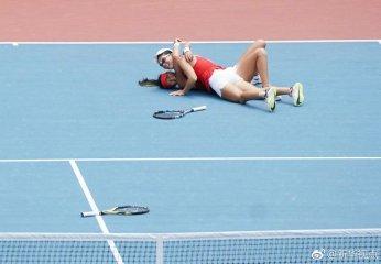 险胜!中国选手夺得网球女子双打冠军