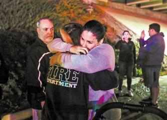 美加州枪击事件至少13人死亡