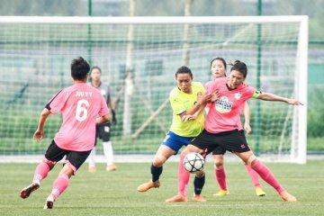 中国女足甲级联赛在唐山南湖打响