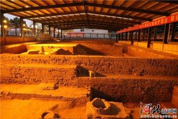 河北省首个夜间亮化考古遗址现身正定